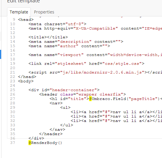 How to add dynamic fields and page information to an umbraco.