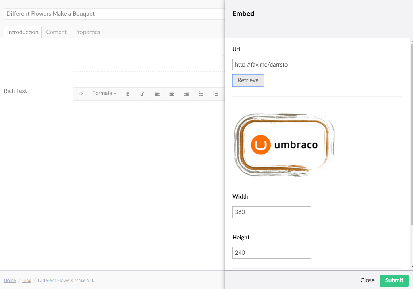 Embedded Media Provider, Extending - Our Umbraco