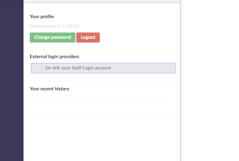 disable unlink button for ad login user profile in umbraco back end