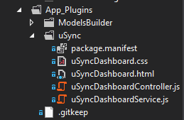 no uSync dashboard files