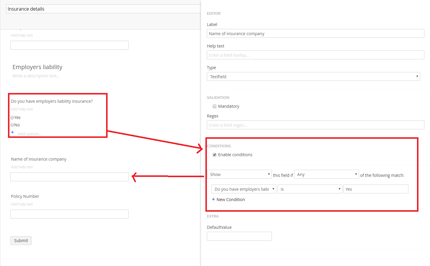 umbraco forms conditionals not working - Umbraco Forms - our ...