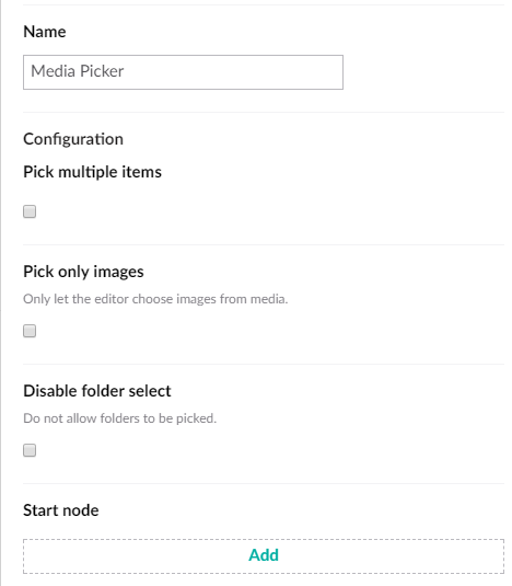 Media Picker with Multiple diabled