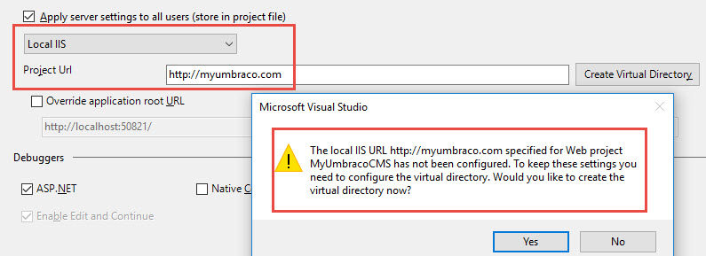 opening localhost from visual studio and from browser