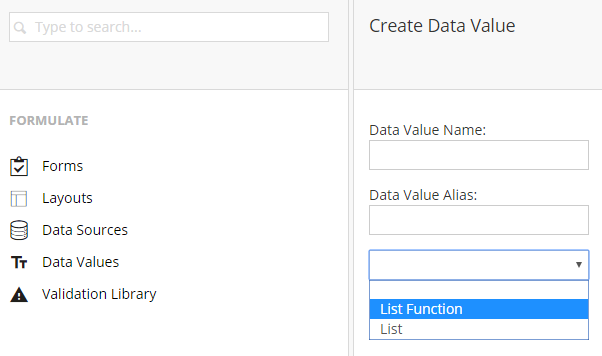 Create Data Value