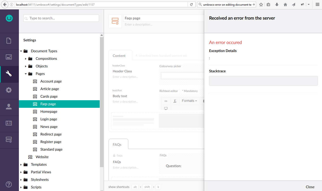 Umbraco Templates | Editing A Template Templates Partial Views And Macros Our