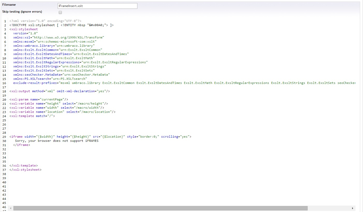 iframe issue in umbraco v48 unable to resize frame