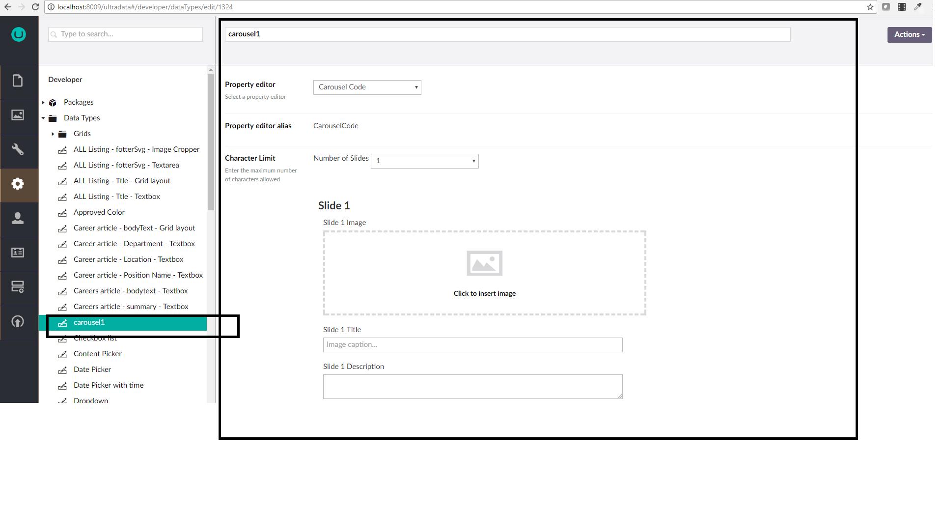 custom data type returning array - Extending Umbraco and