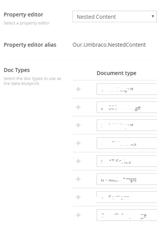 How can i access the data type configuration for nested content via nested content example malvernweather Gallery