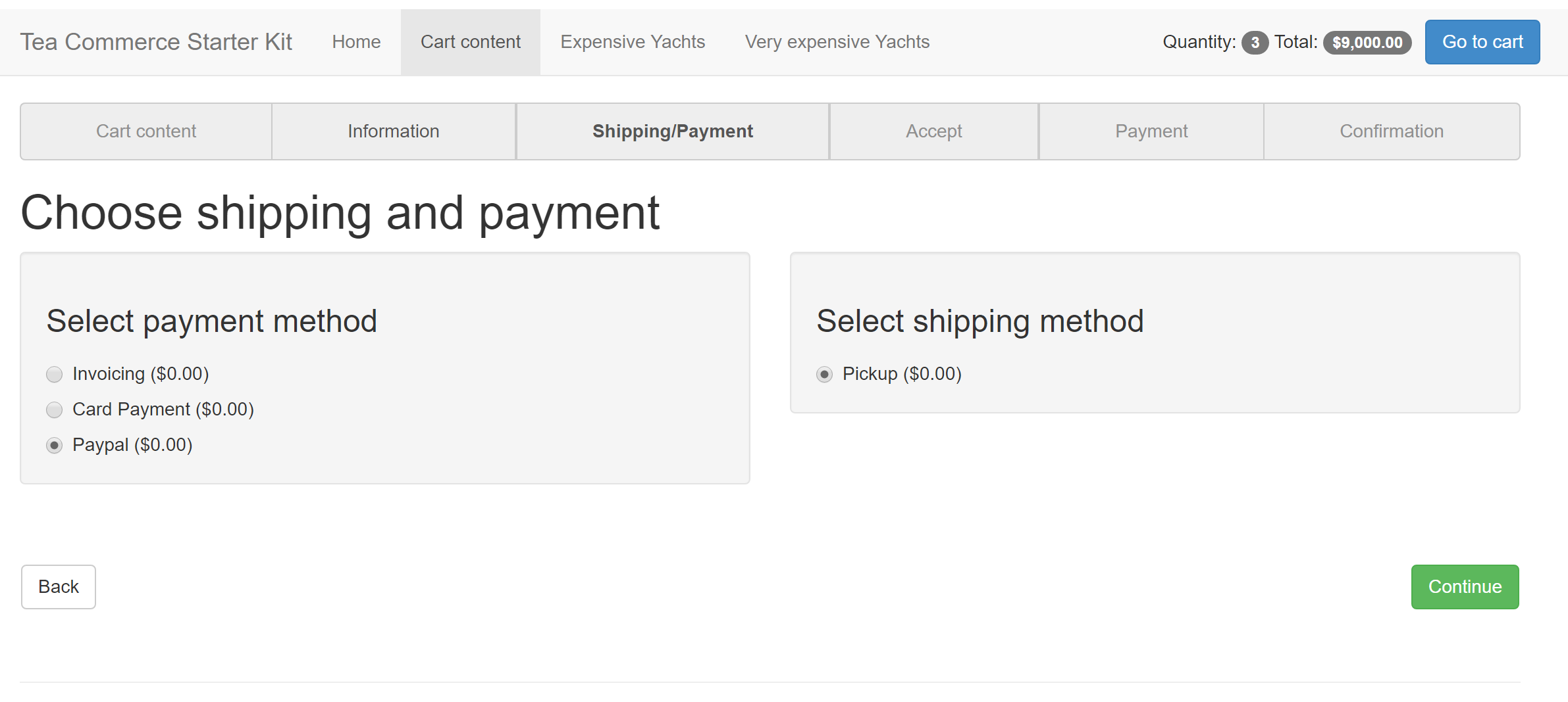 paypal setup - Tea Commerce support - our umbraco com