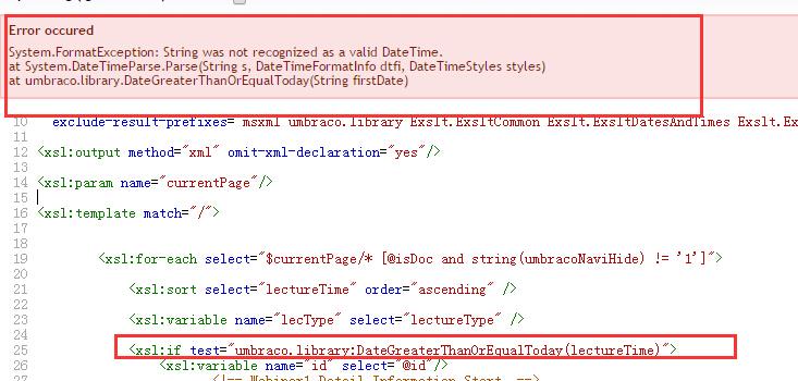compare datetime in xslt - XSLT - our umbraco com