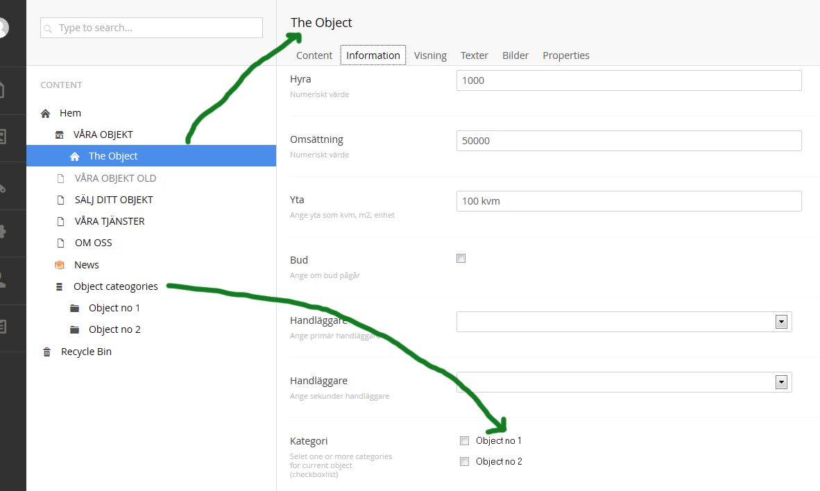 checkboxlist in content backoffice - Templates and document