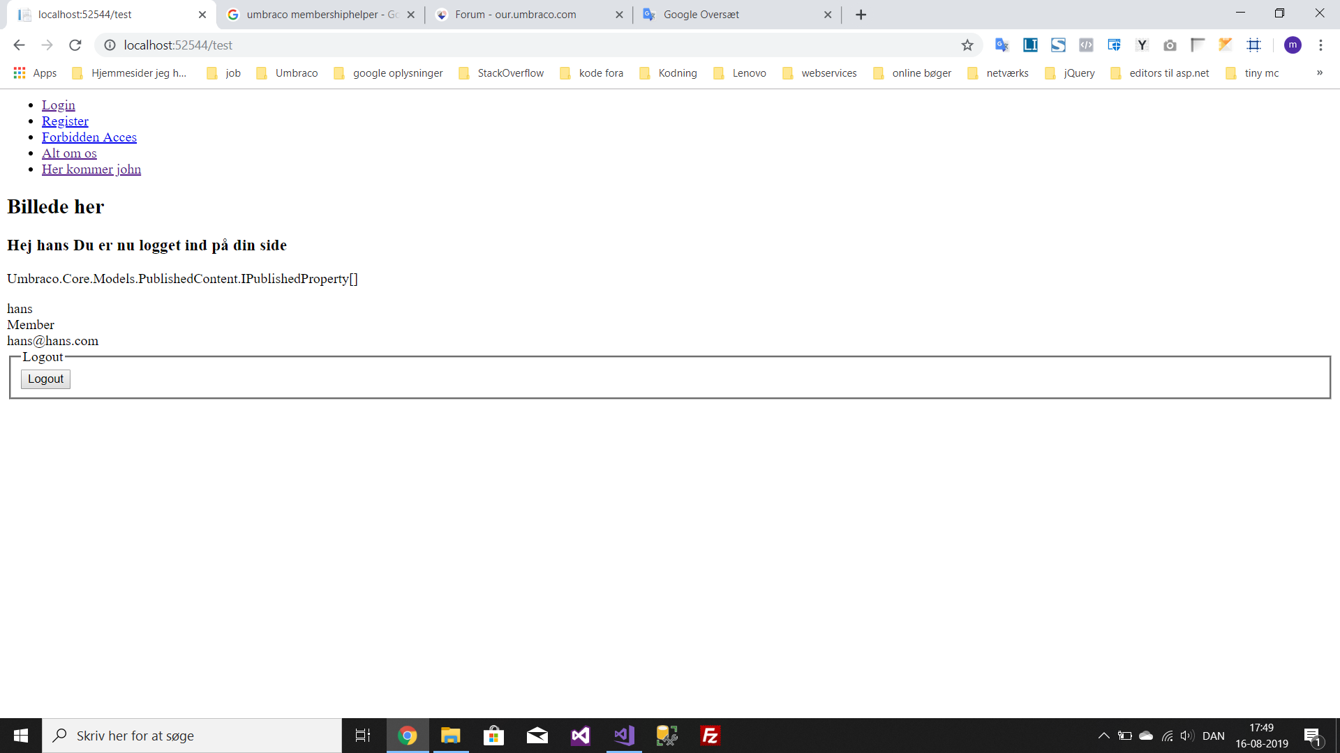 Im Getting Crazy How Do I Access The Data Contained In The Member Types Using Umbraco And Getting Started Our Umbraco Com