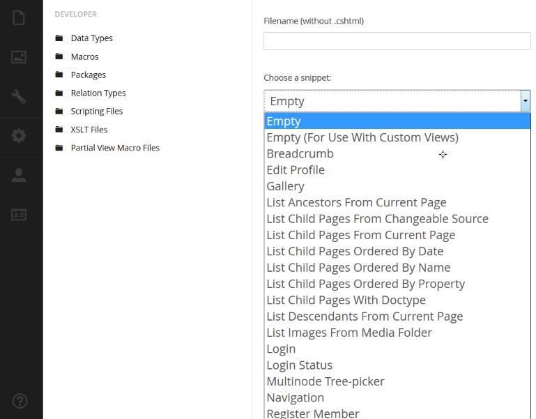 how to create a dynamic navigation menu - Razor - our