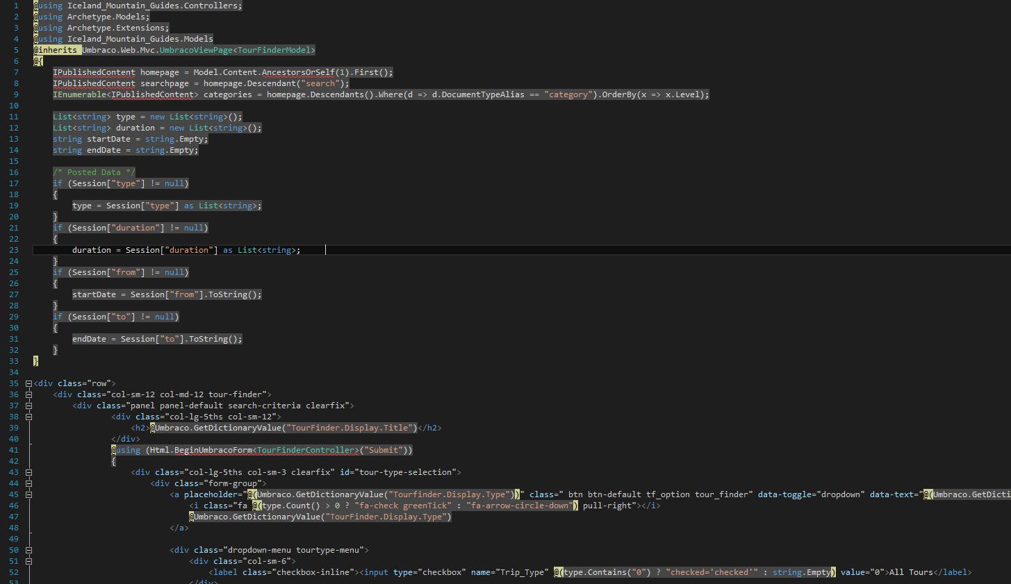 intellisense type or namespace name ipublishedcontent could