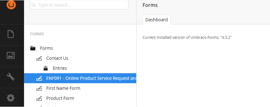 cant update access umbraco form backoffice - Umbraco Forms - our ...