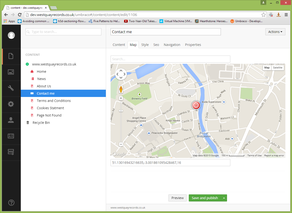 AngularGoogleMaps - our umbraco com