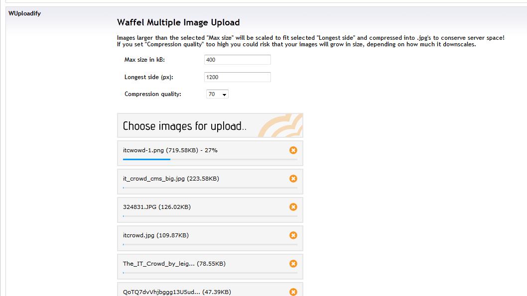 Waffel Multiple Image Upload (WMIU) - our umbraco com